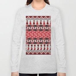 African Tribal Pattern No. 85 Long Sleeve T-shirt