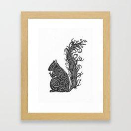 Shiny Squirrel Framed Art Print