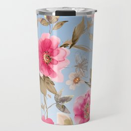flower watercolor 6 Travel Mug