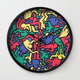 Keith Allen Haring - Hip Hop - Pop Art Culture - Shop Society6 Online 3 - 12/24 A Wall Clock