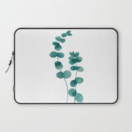 green eucalyptus watercolor Laptop Sleeve
