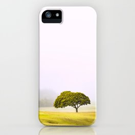 Tree in mist iPhone Case