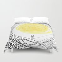 you are my sunshine Duvet Covers featuring You are My Sunshine by RokinRonda
