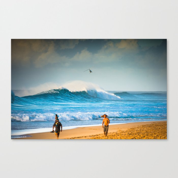 Pipeline waves rocking North Shore Oahu - Hawaii  Canvas Print