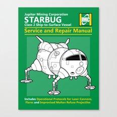 Starbug Service and Repair Manual Canvas Print