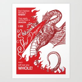 I am the Dragon Art Print