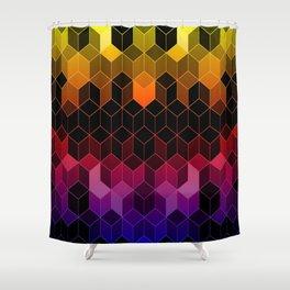 Rainbow Cubes Shower Curtain