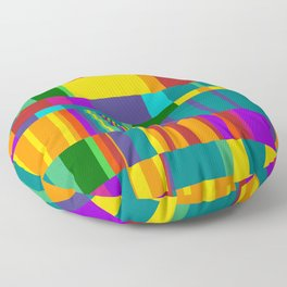 Chopin Prelude (Bright Colours) Floor Pillow
