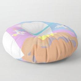 The magic dentis, Die magische Zahnärzte (retro) Floor Pillow