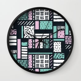 Pattern Pop Wall Clock