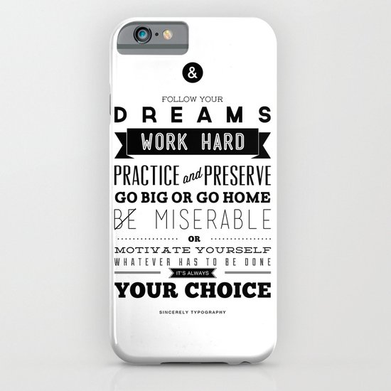 Sincerely Typography iPhone & iPod Case