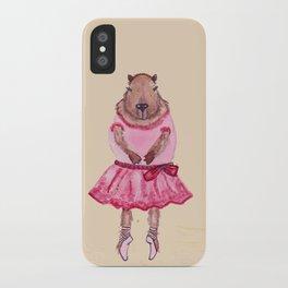 Capybara Ballerina  iPhone Case