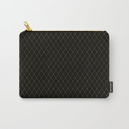 Luxury Gold Argyle - Black (Small Pattern) Carry-All Pouch