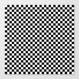 Black and White Check Canvas Print