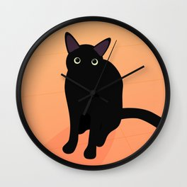 Cafe Kitty Wall Clock