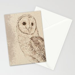 Endearing Barn Owl Stationery Cards