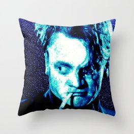 James Cagney, blue Madness. Throw Pillow