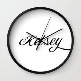 Name Kelsey Wall Clock