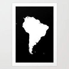 SOUTH AMERICA NIGHT Art Print