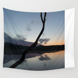Sunset on lake, Nature Photography, Landscape Photos, sunset photos Wall Tapestry