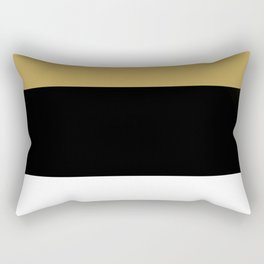 Team Colors 8...Gold ,black and white Rectangular Pillow