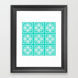 Tiled Mint Framed Art Print