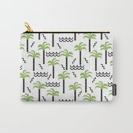 Palm trees tropical minimal ocean seaside socal beach life pattern Carry-All Pouch