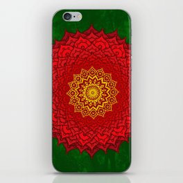 okshirahm rose mandala iPhone Skin