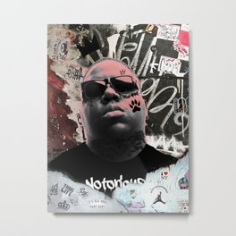 Notorious BIG The Legend Metal Print
