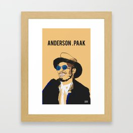 Anderson .Paak Framed Art Print