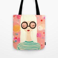 Girl with big glasses (II) Tote Bag