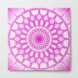 Flower Mandala serie pink Metal Print