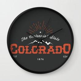 Colorado, Centennial State Wall Clock