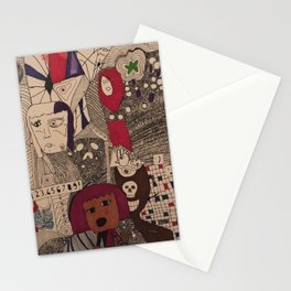 Daughter/Mother Doodle Stationery Cards