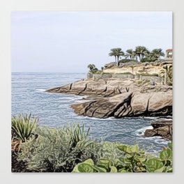 Tenerife/Teneriffa,painted Canvas Print