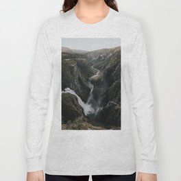 Voringsfossen Waterfall - Landscape and Nature Photography Long Sleeve T-shirt