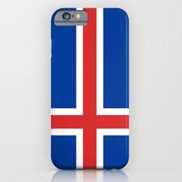 National flag of Iceland iPhone Case