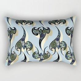 Oriental Tattoos on light sky blue Rectangular Pillow