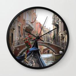 Italy Venice Gondola Wall Clock