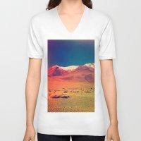saturn V-neck T-shirts featuring Saturn. by Daniel Montero