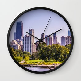Lincoln Park Chicago Wall Clock