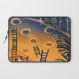 Time through Time, from Caves to Skyscraper, from Organic to Geometric Laptop Sleeve
