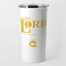 The Lord Of The Strings Guitar Bassist Musicians Electric Guitars Music Lovers Gifts Travel Mug