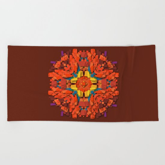 red round accumulation Beach Towel