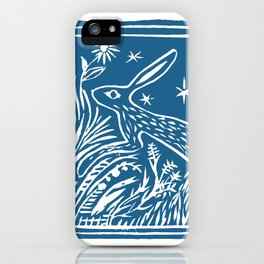 Lino Cut Hare iPhone Case