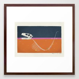 Burying The Line After A Long Walk Framed Art Print