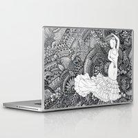 spanish Laptop & iPad Skins featuring spanish dancer by ZINAVARTA