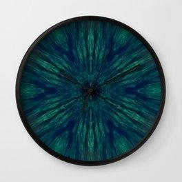 Blue Green Marine Flower Wall Clock