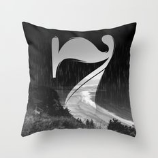 Lucky Seven Fade BEACH Throw Pillow