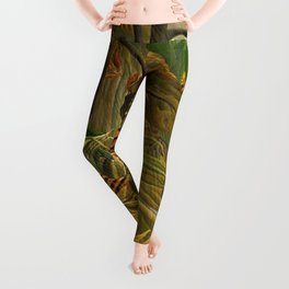 Tiger in a Tropical Storm - Surprised! by Henri Rousseau Leggings